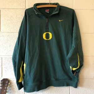University of Oregon Nike Collared Pullover Size M